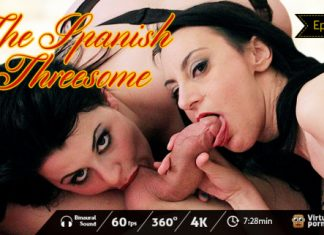 The Spanish Threesome: Deepthroat in POV