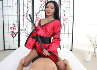 Kimono queen rides big dick