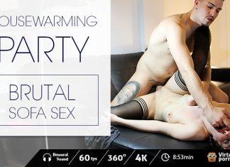 Housewarming party: Brutal Sofa Sex