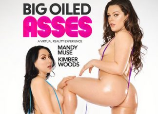 "Mandy Muse, Kimber Woods in ""BIG OILED ASSES"""