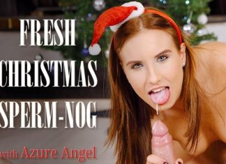 Fresh Christmas sperm-nog