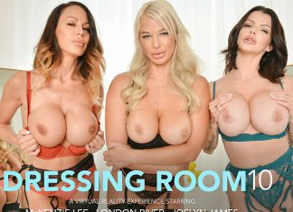 "Joslyn James, London River, McKenzie Lee in ""The Dressing Room 10"""