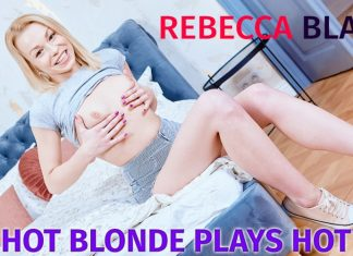 Hot Blonde Plays Hot Games