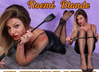 Sexy Mistress Noemi Blonde Teases You With Her Nyloned Feet