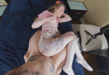 Naughty Little Girl Pounded by Stepdaddys Hard Cock