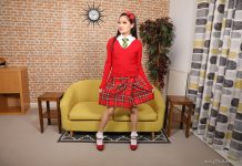 Louisa Lu – Asian Schoolgirl Striptease