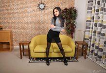 Louisa Lu – Petite Asian Louisa Strips After Work